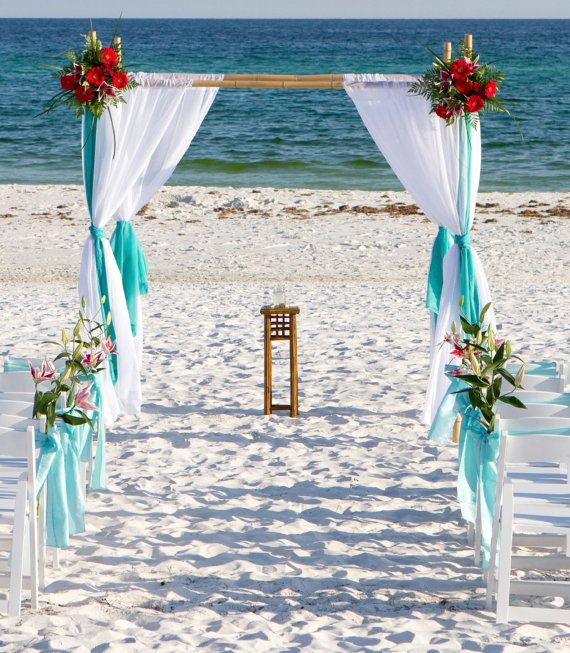 Doing Your Own Flowers For A Wedding: Beach Wedding Arch Ideas