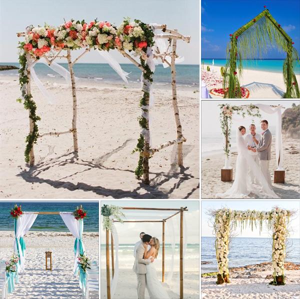 Beach Wedding Altar Ideas: Beach Wedding Arch Ideas