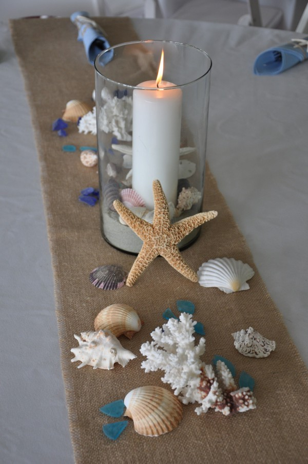 Beach wedding table runners beach wedding tips