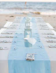 Beach Wedding Table Runners