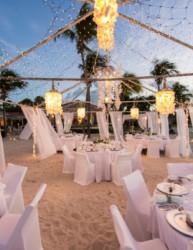 White beach wedding decor that will take your breath away