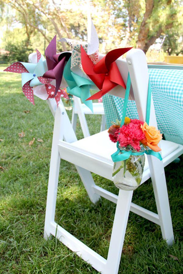 Beach Wedding Chair Decorations