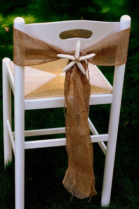 Beach Wedding Chair Decorations