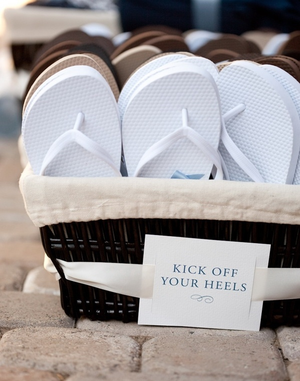 Beach Wedding Flip Flops For Guests