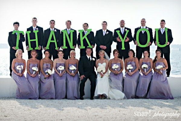 Thank You Ideas For Wedding: Thank You Wedding Photo Ideas