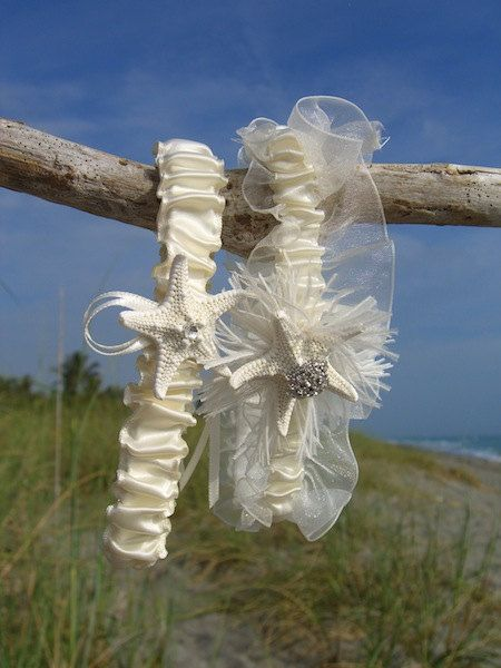 Bridal Gorgeous Garters For Your Beach Wedding