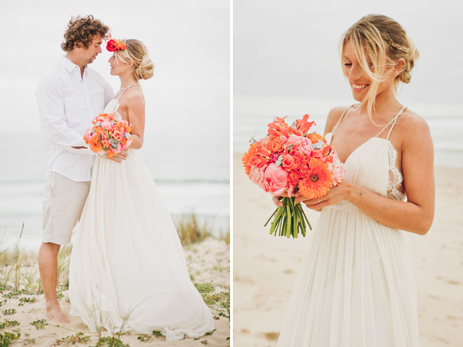 Amazing surf wedding inspiration shoot