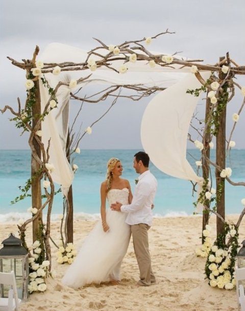 Beautiful wedding on the beach ideas ideas styles ideas 2018 rustic beach wedding d cor ideas beach wedding tips junglespirit Gallery