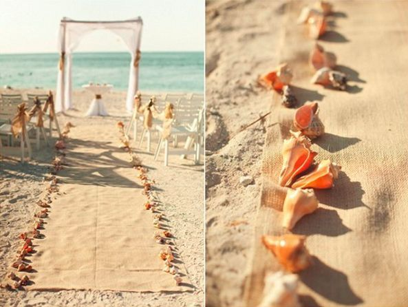 Burlap Beach Wedding Ideas