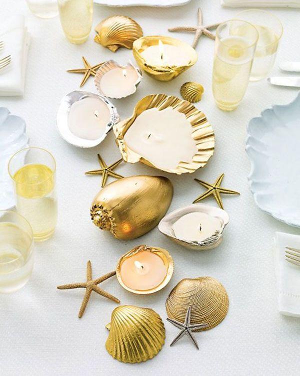 Dashing Gold Beach Wedding Ideas