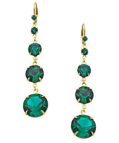Beach Bridal Jewelry Ideas: Emerald Earrings