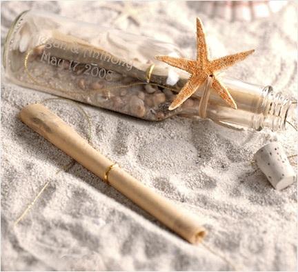 Beach Wedding Invitation in a Bottle