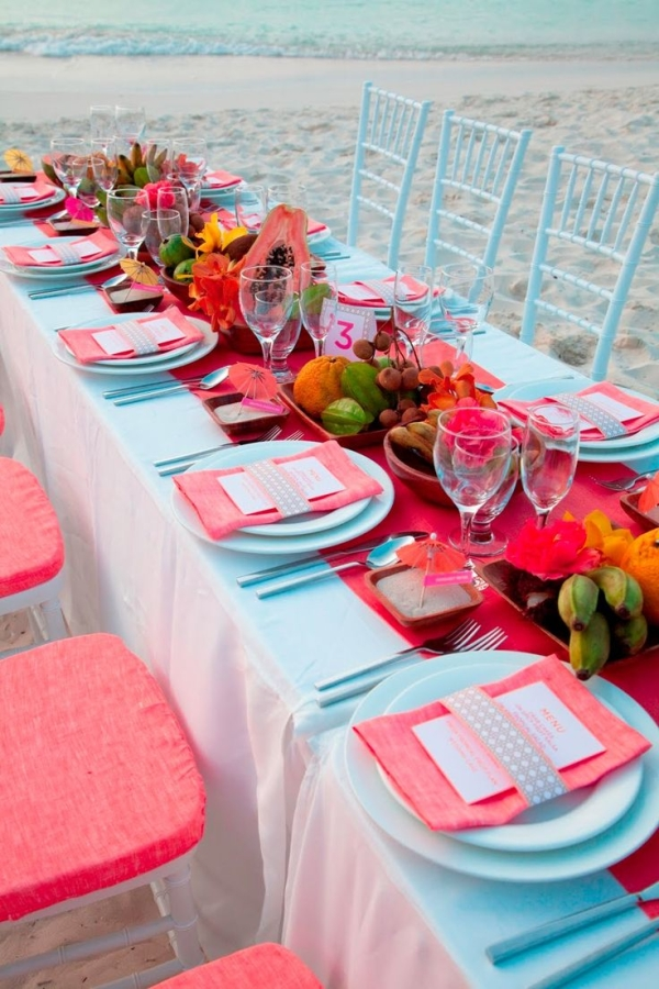 Fresh Mint and Pink Beach Wedding Ideas 5 - pink beach wedding ideas