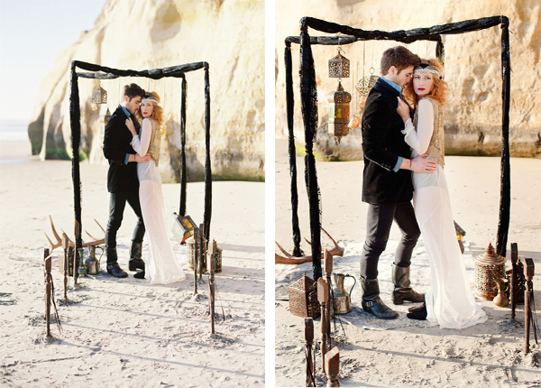 Gorgeous Bohemian Beach Wedding Shoot