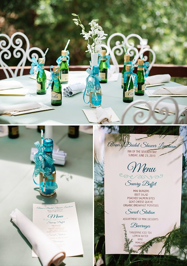 how to organize a beach themed bridal shower