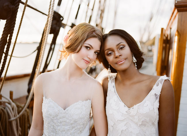 Wedding Inspiration Shoot on a Historic Ship