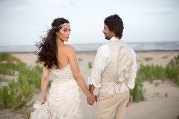 Dreamy beach wedding elopement
