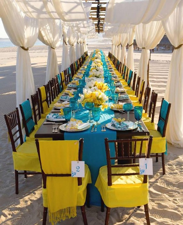 Shine Like The Sun Yellow Themed Beach Wedding Ideas
