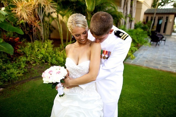Military Beach Wedding in Maui