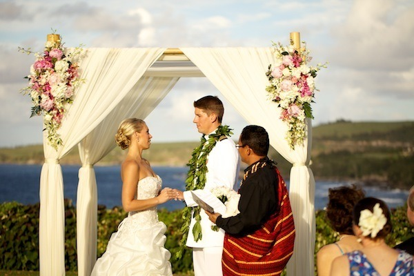 Military Beach Wedding in Maui