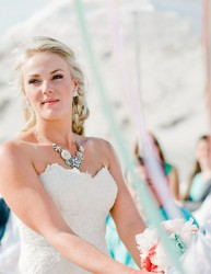 Coral and Mint Beach Wedding