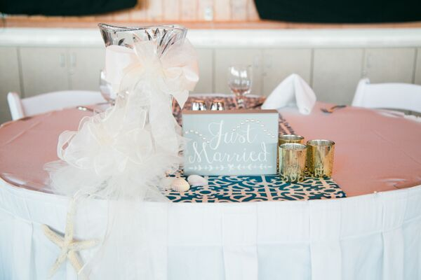 Bride and groom`s table