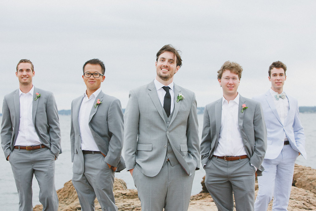 Photo of the groom and his groomsmen