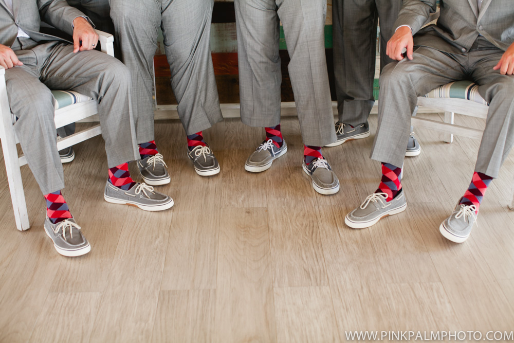 Grey groomsmen shoes
