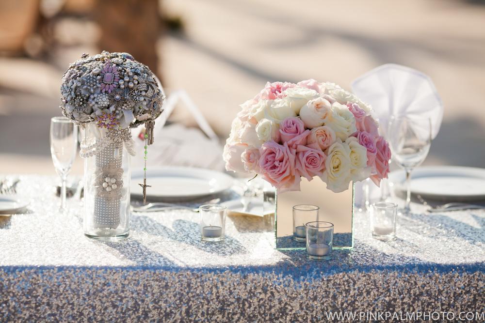 Reception wedding flowers