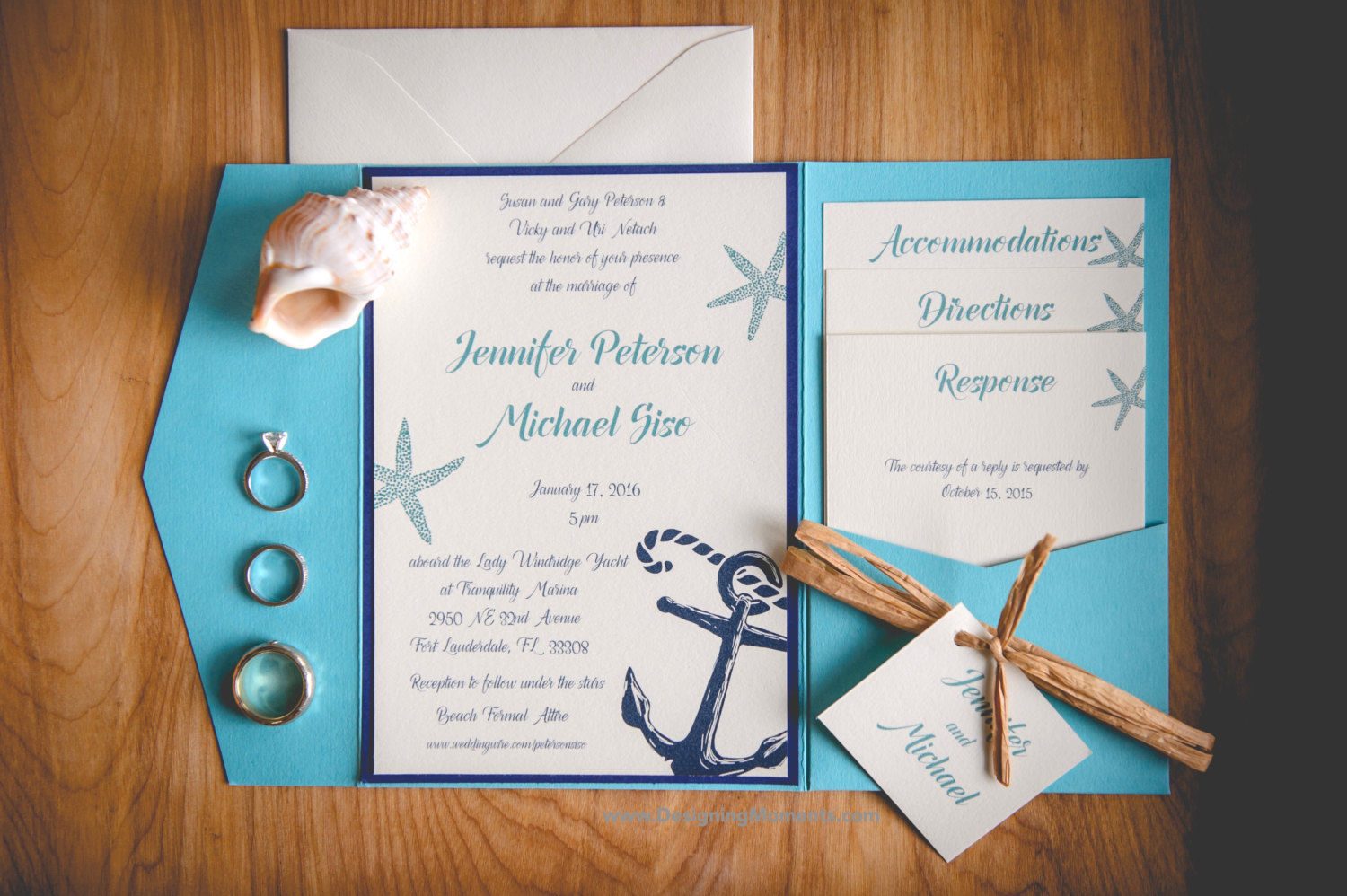 spread the word with stylish and original beach wedding, Wedding invitations