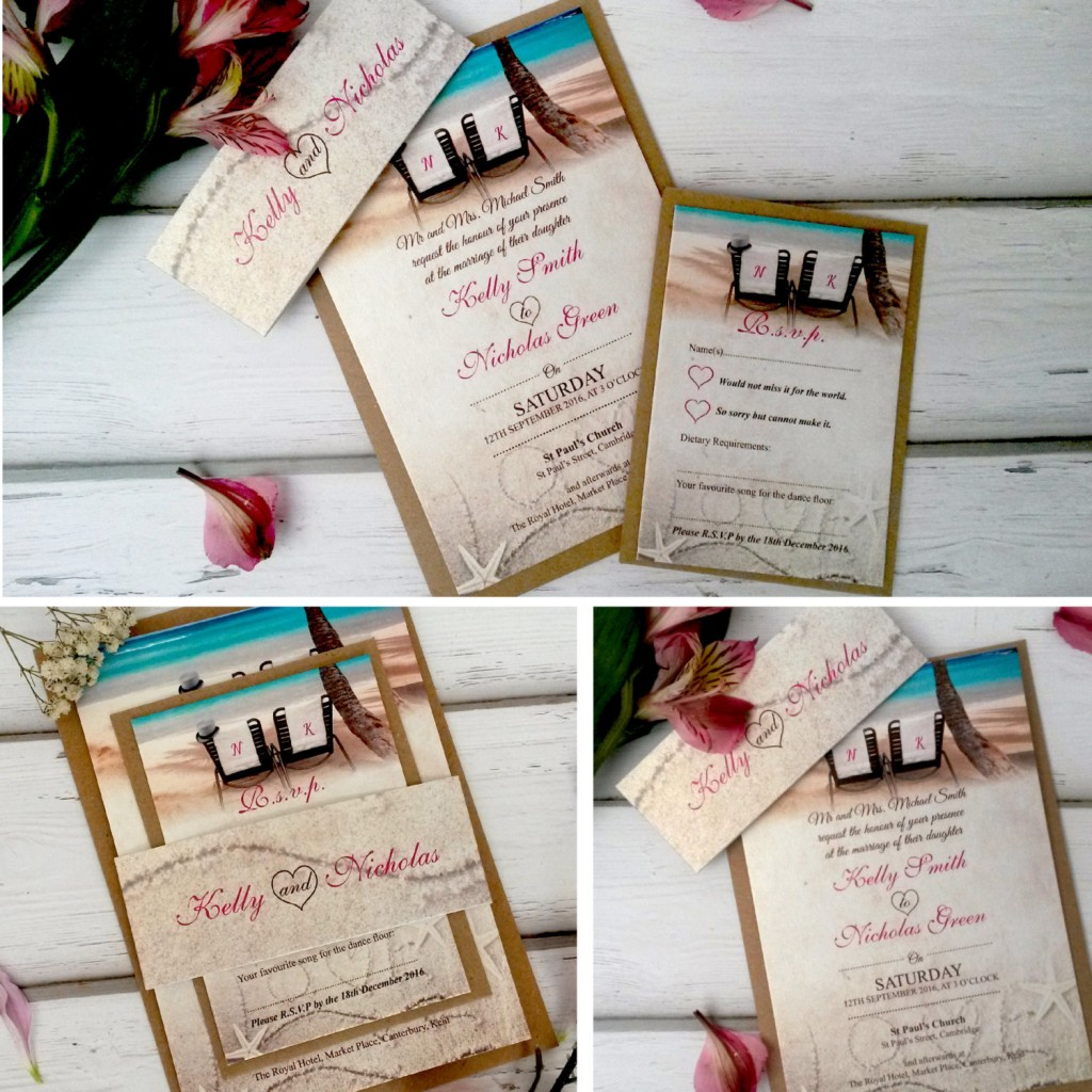 Spread the Word with Stylish and Original Beach Wedding – Handmade Beach Wedding Invitations
