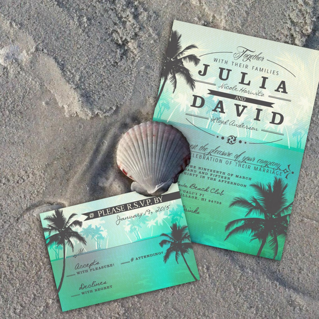 Lovely Beach Wedding Invitation