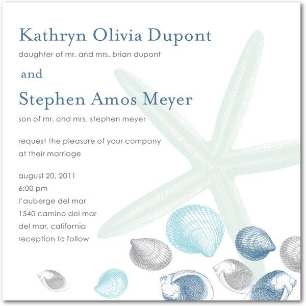 Beach wedding electronic invitation