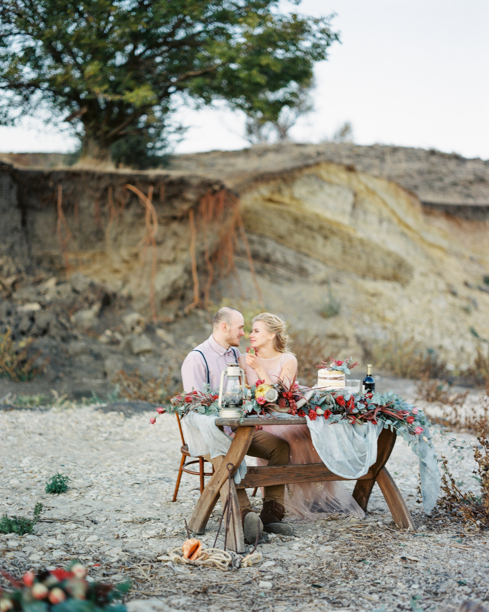 Beautiful wedding table set up