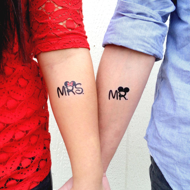 Matching wedding temporary tattoos