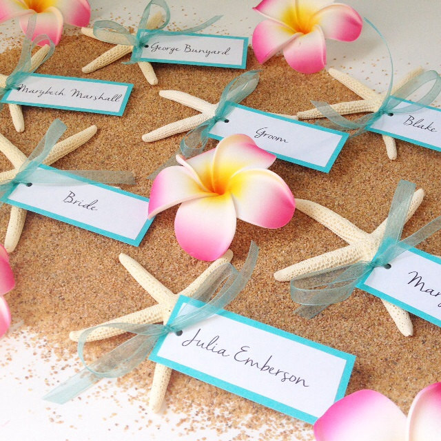 Ideas For Place Cards At A Wedding: 20 Wonderful Escort And Place Card Ideas For A Beach