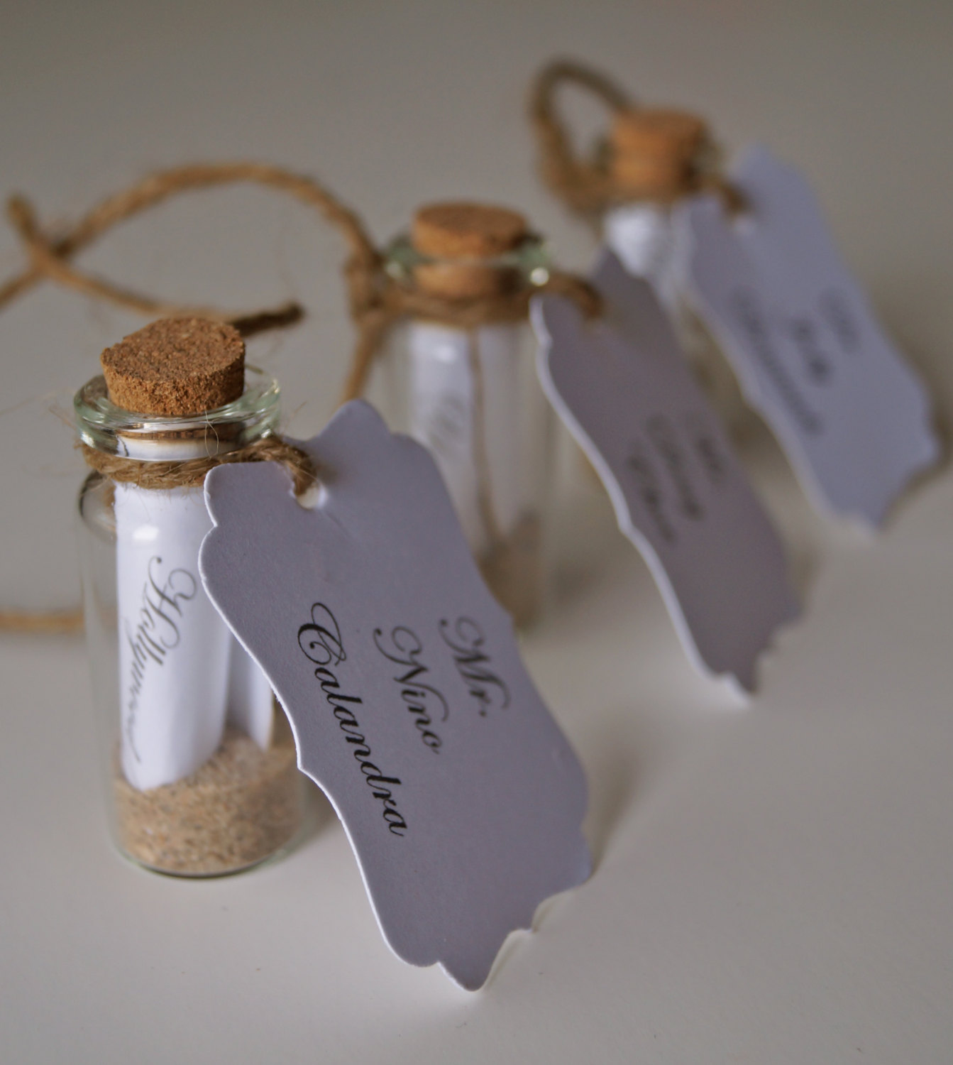 20 wonderful escort and place card ideas for a beach wedding message in a bottle wedding escort cards jeuxipadfo Choice Image