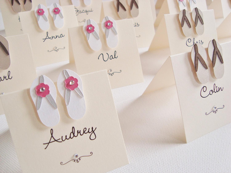 Flip Flop Wedding Place Cards