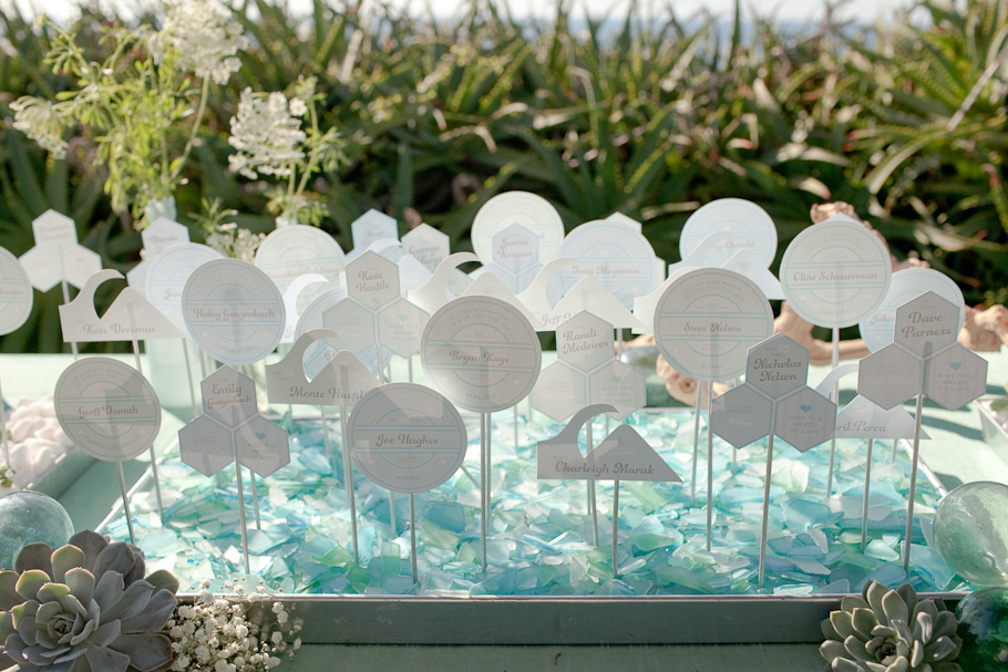 20 Wonderful Escort and Place Card Ideas for a Beach Wedding – Beach ...