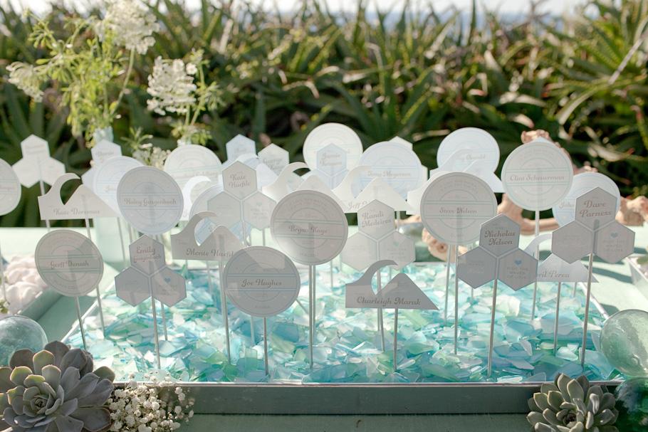 Wonderful Beach Wedding Place Cards