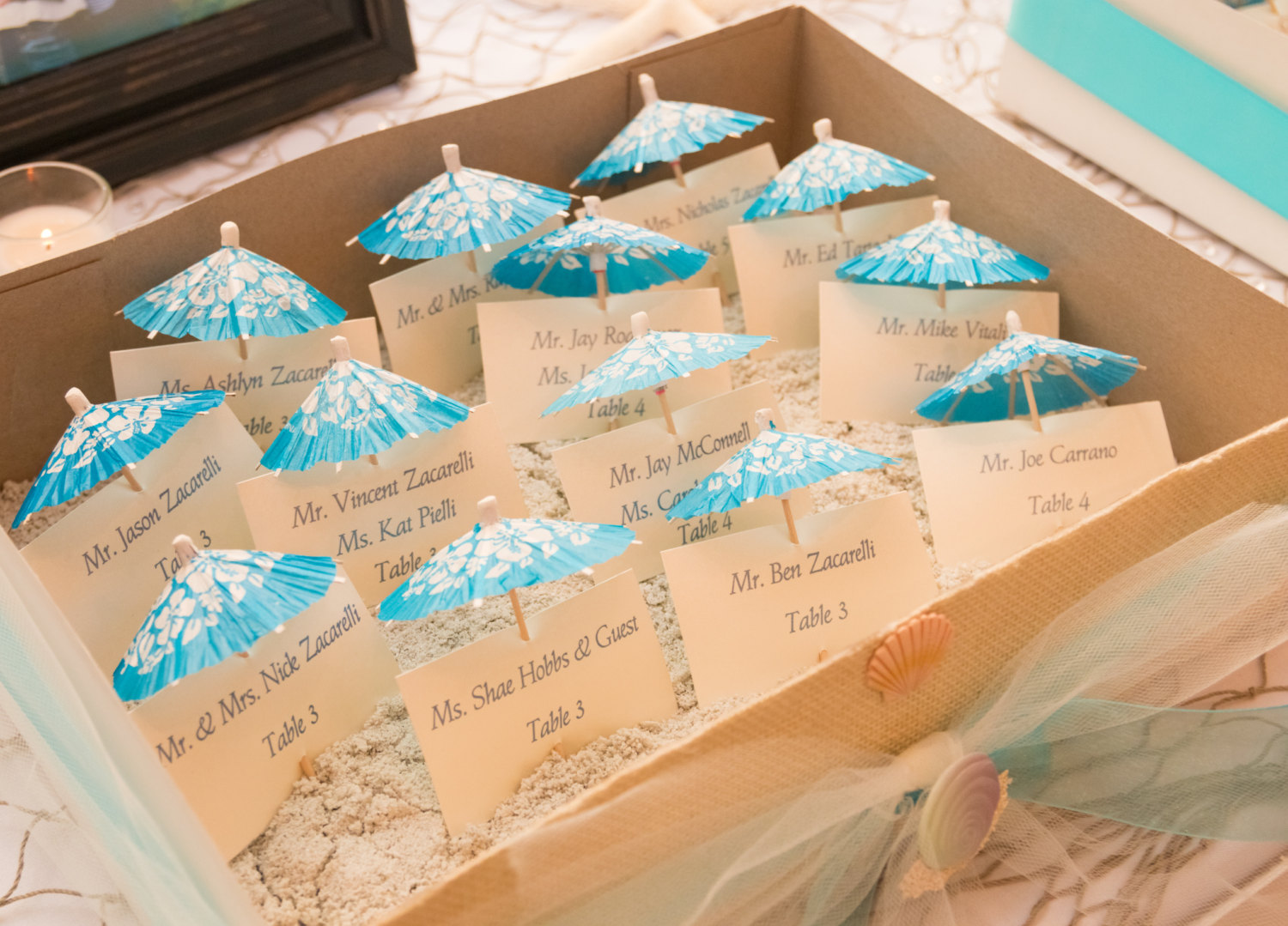 20 Wonderful Escort And Place Card Ideas For A Beach Wedding Beach Wedding Tips