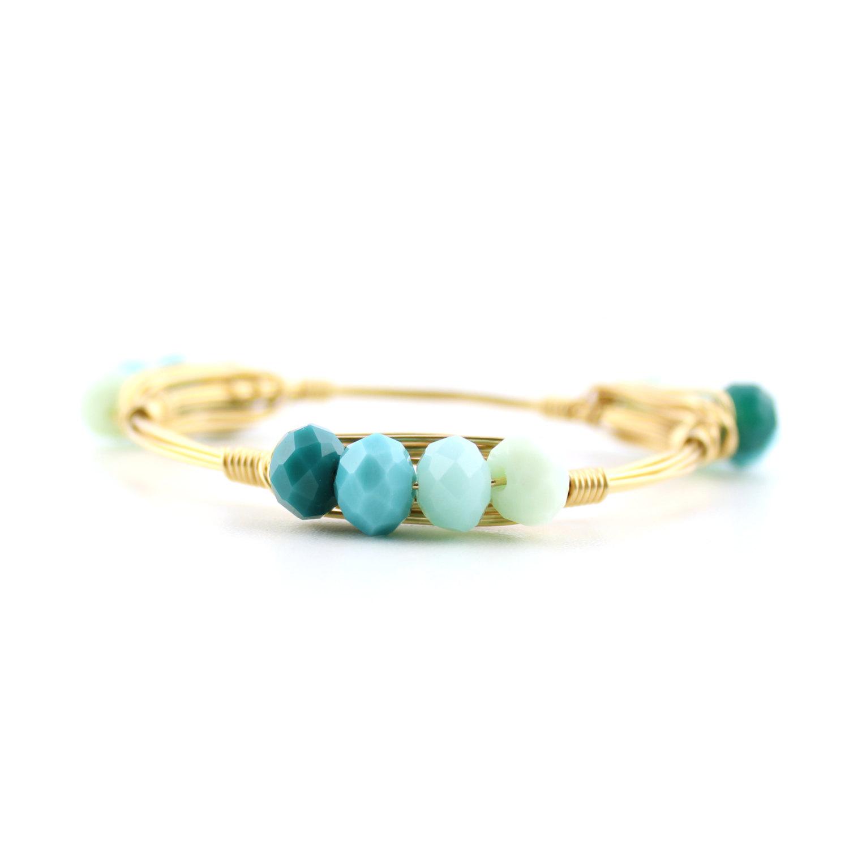 Blue ombre bangle bracelet