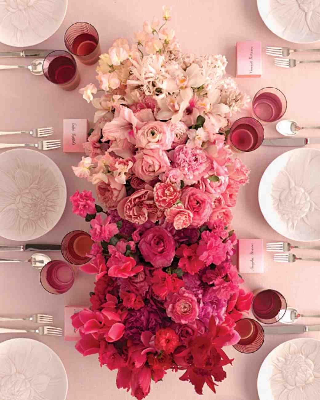Lovely ombre tablescape