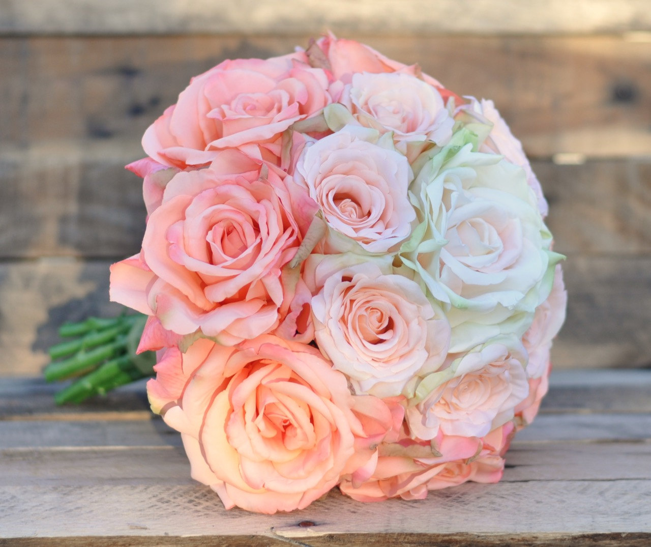 Ombre wedding bouquet