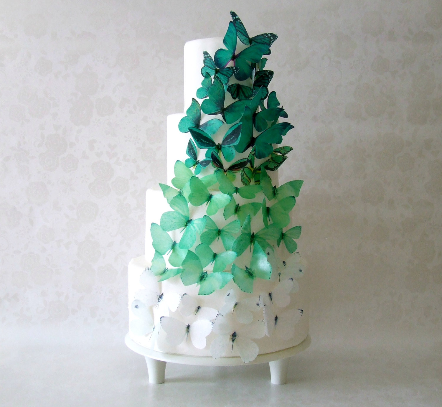 Ombre butterflies cake toppers