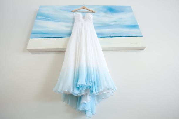 Beautiful ombre wedding dress