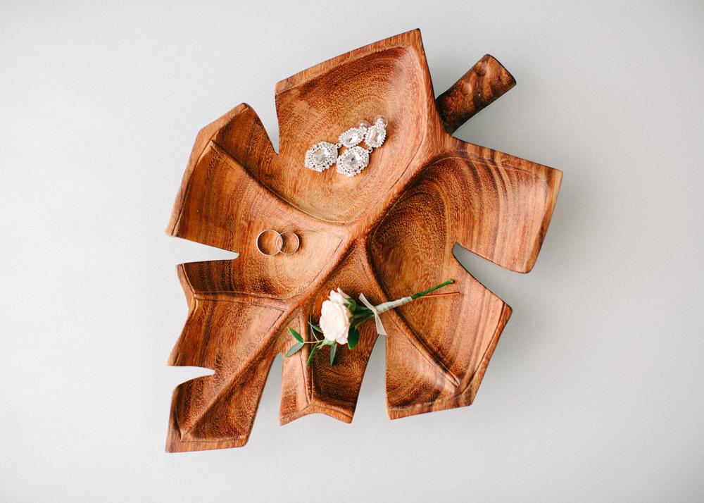 Wedding rings and bridal earrings