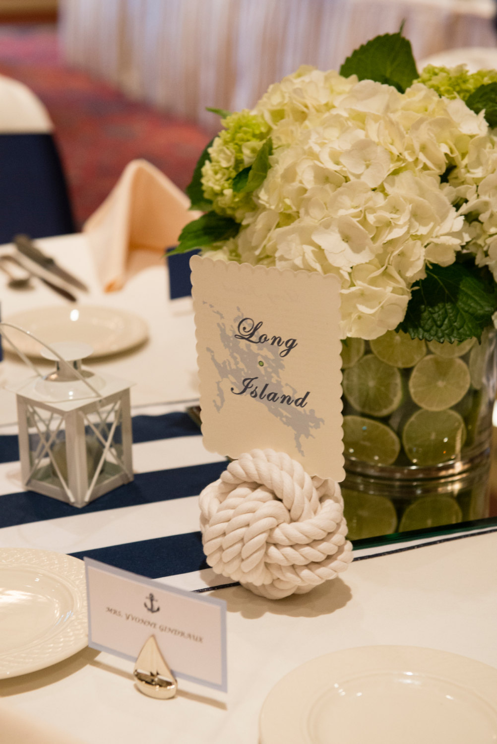 Nautical Wedding Table Number Holder
