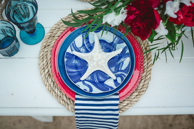 Nautical Wedding Reception Decor