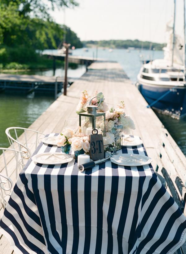 Nautical Wedding Tablescape